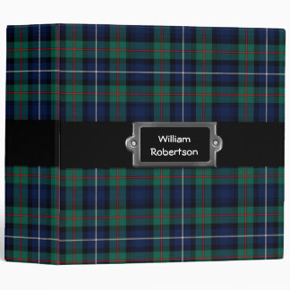 Traditional Custom Robertson Tartan Plaid Binder