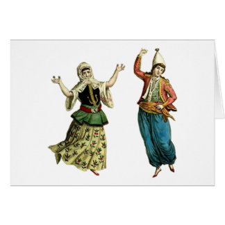 Traditional Dancers Greeting Card
