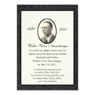 Death invitations announcements zazzle traditional death announcement card stopboris Gallery
