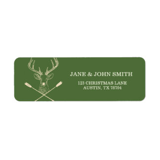 Traditional Deer Hunting Address Arrows Labels