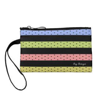 """Traditional Designs"" Polka Dot / Stripes_ Coin Wallet"