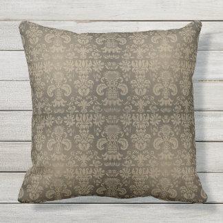 Traditional-Designs_Vintage-Sepia_Damask(c) Sepia Throw Pillow