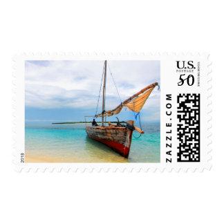 Traditional Dhow, Zanzibar, Tanzania Postage