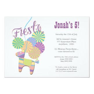 Traditional Donkey Fiesta Pinata Kids Birthday Custom Announcement