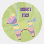 Traditional Donkey Fiesta Pinata Kids Birthday Sticker