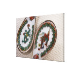 Traditional dragon and phoenix spoons canvas print