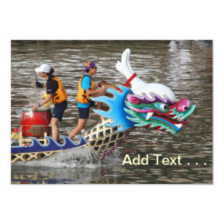 Traditional Dragon Boat Racing Down the River Card