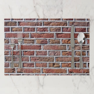 Traditional Dutch Brickwork Pointing Paper Placemat