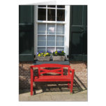 Traditional Dutch House with Red Bench Photo Card