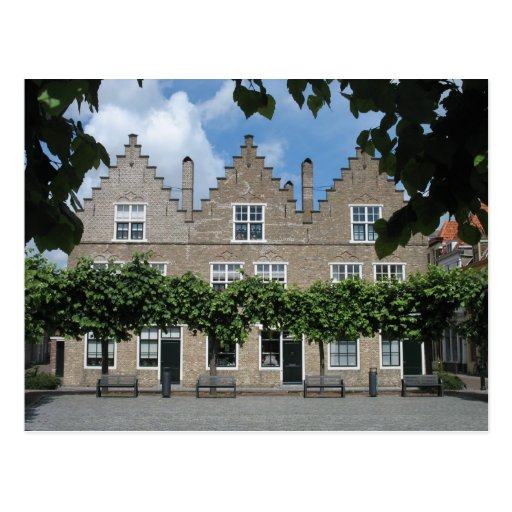 Traditional dutch houses town square postcard zazzle for Classic dutch house of 60m2