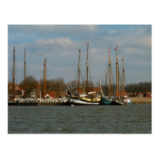 Traditional Dutch Sailing vessels, Enkhuizen Post Card