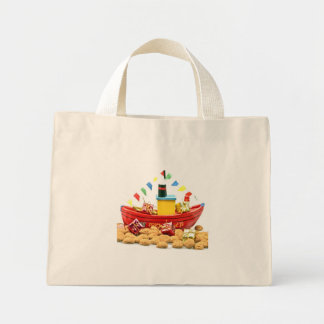 Traditional dutch: The steamboat from st. nickolas Mini Tote Bag