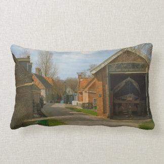 Traditional Dutch village, Enkhuizen Throw Pillow