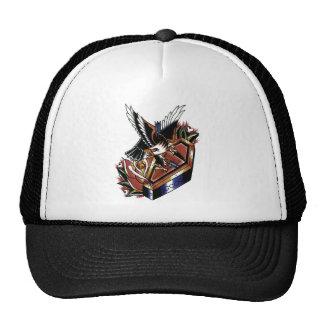 traditional eagle tattoo trucker hat