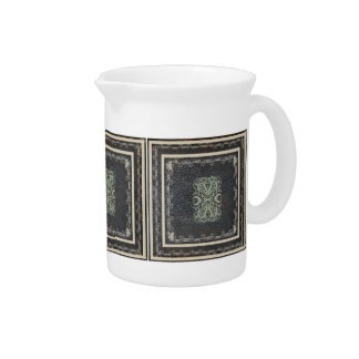 Traditional Elegant Antique Scrolls on Leather Drink Pitcher