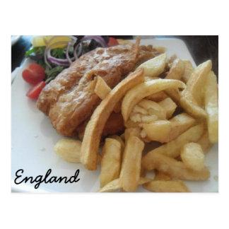 Traditional English Fish & Chips Postcard