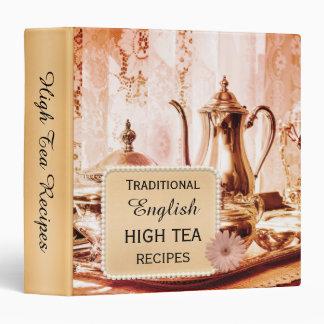 Traditional English High Tea Recipe Binder