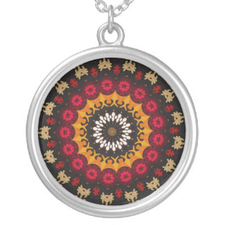 Traditional ethnic  tribal weaving textile detail pendants