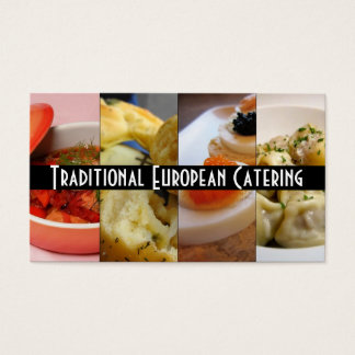 Traditional European Russian Catering Food Business Card