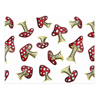 Traditional Fairy Toadstool Pattern Postcard