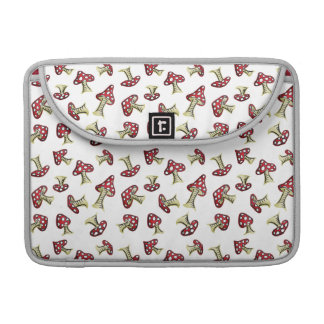 Traditional Fairy Toadstool Pattern Sleeve For MacBook Pro