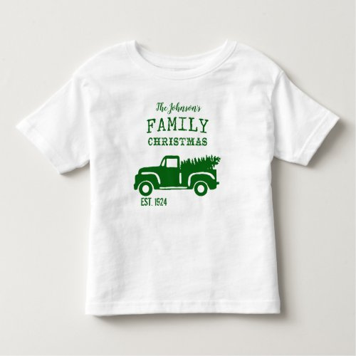 Traditional Family Christmas Toddler T_shirt