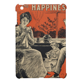 Traditional Family Life Vintage Retro Orange Black iPad Mini Cases