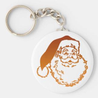 Traditional Father Christmas Art Key Chain