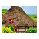 Traditional Fijian Bure, Navala Village, Fiji Letterhead