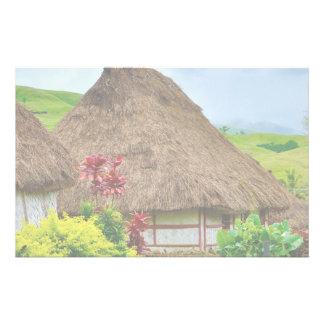 Traditional Fijian Bure, Navala Village, Fiji Stationery