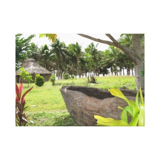 Traditional Fijian drum or lali Canvas Print