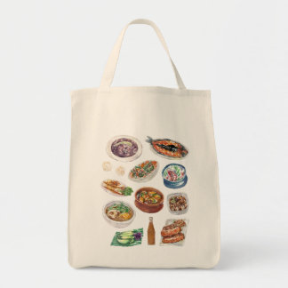 Traditional Filipino Food in Watercolor Pinoy Tote Bag