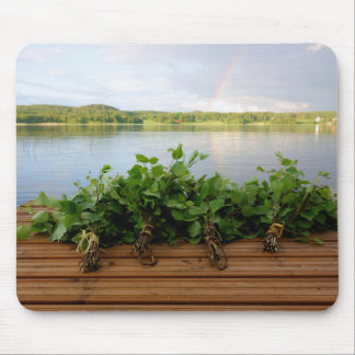 Traditional Finnish bath whisks mousepad