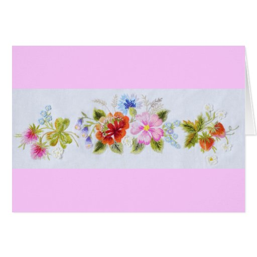 Traditional Flowers Card