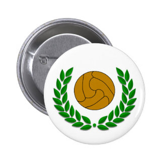 Traditional football/soccer badge pinback button