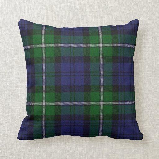 Traditional forbes tartan plaid pillow zazzle Define plaid