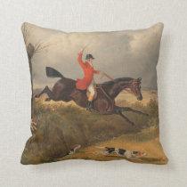 traditional fox hunting cushion