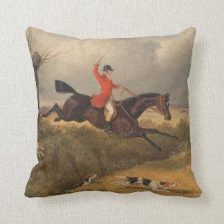 traditional fox hunting cushion throw pillow