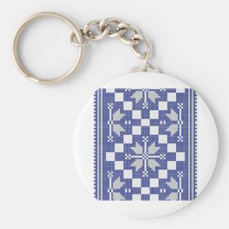 traditional geometric art vo2 keychain
