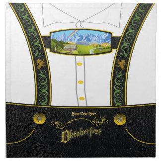 Traditional Germany Bavarian Lederhose Napkin