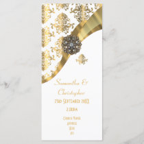 Traditional gold and white church wedding program