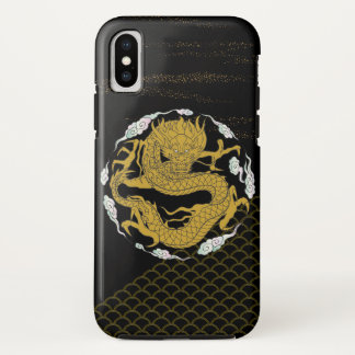 Traditional Gold Dragon iPhone X Case