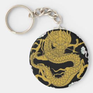 Traditional Gold Dragon Keychain