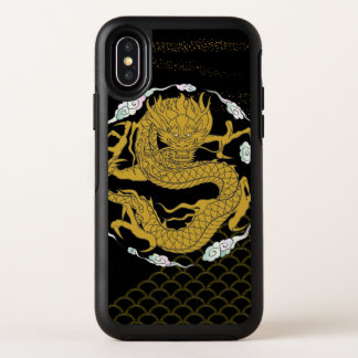 Traditional Gold Dragon OtterBox Symmetry iPhone X Case