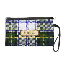 Traditional Gordon Dress Family Tartan Plaid Wristlet