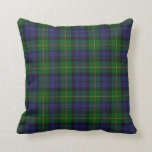 "Traditional Gordon Tartan Plaid Pillow<br><div class=""desc"">Great looking blue and green tartan plaid accent pillow,  done in the traditional Scottish Gordon pattern. Adds a stylish touch to any room of the house or office. Customize to add text.  Makes a great gift idea.</div>"