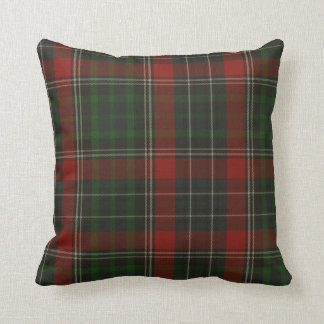 Traditional Green & Red Stuart Tartan Plaid Pillows