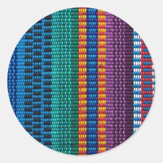 Traditional Guatemala fabric weave Classic Round Sticker