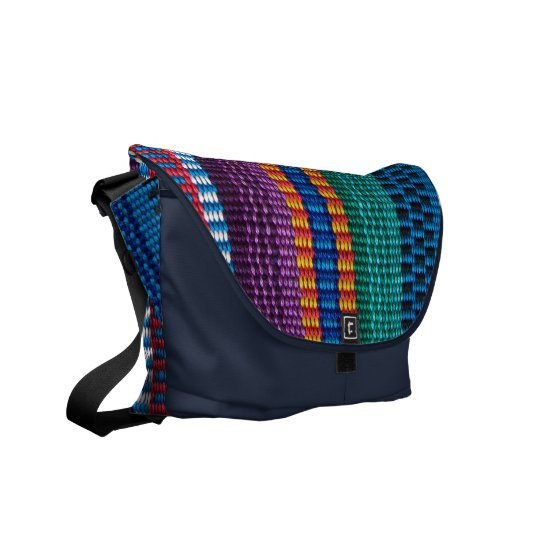 Traditional Guatemala fabric weave Courier Bag