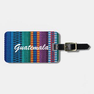 Traditional Guatemala fabric weave custom text Bag Tag